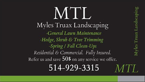 MTL LANDSCAPING- Lawn Maintenance Grass Cutting Lawn Care Mowing