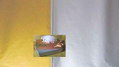 50 BOGEN = 2 Lagen Pack)  50x70 Seidenpapier gold oder silber