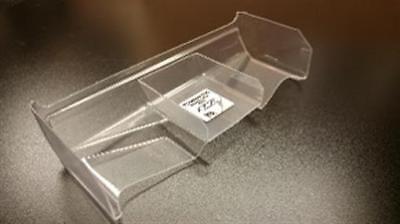 (LeadFinger Racing Pre-Cut 1:8 Lexan Hammer wing (Clear) W/ Stabilizer (1))