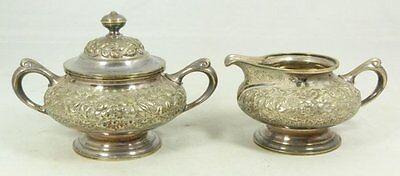 Fine Antique Estate C.1900 Tiffany & Co. Silver Sugar & Creamer Set