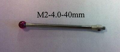 M2 Cmm Stylus Styli  4.0mm Ruby Ball 40mm Length A-5003-0044