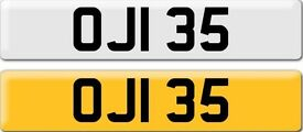 *OJI 35* Dateless Personalised Cherished Number Plate Audi BMW M3 Ford VW Caddy Mercedes Vauxhall