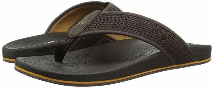 Extra Wide Men Skechers Pelem Emiro Flip Flop Sandal 65093EWW Color Dark Brown