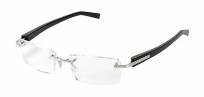 Tag Heuer Eyeglasses Rimless TH 8102 007 Black Authentic New Frame Rxable 54mm
