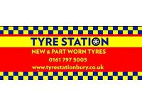 Part Worn Tyres From £15 in Bury