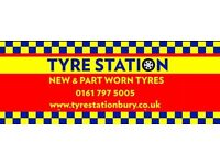 Best prices in Bury for New & Part Worn Tyres