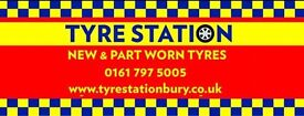 Part Worn Tyres from £15 fitted