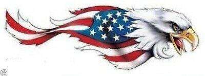 EAGLE WITH US FLAG ON WINGS STICKER BUMPER STICKER WINDOW STICKER DIE CUT ()