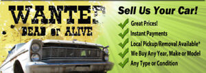 I BUY ANY AND ALL UNWANTED VEHICLE'S