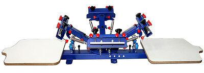 4 Color Screen Printing Press Printer Machine Equipment 2 Station DIY T-shirt