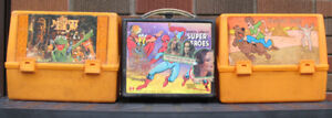 1970s Plastic Lunch Boxes: The Muppet Show, Scooby Doo, Marvel