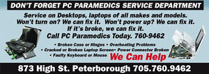 PC Paramedics Laptop Repair all makes and models including MACS