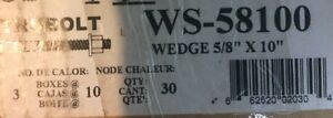 """Wedge Anchor Bolts 5/8"""" x 10"""", Red Head Concrete Anchors Kitchener / Waterloo Kitchener Area image 4"""