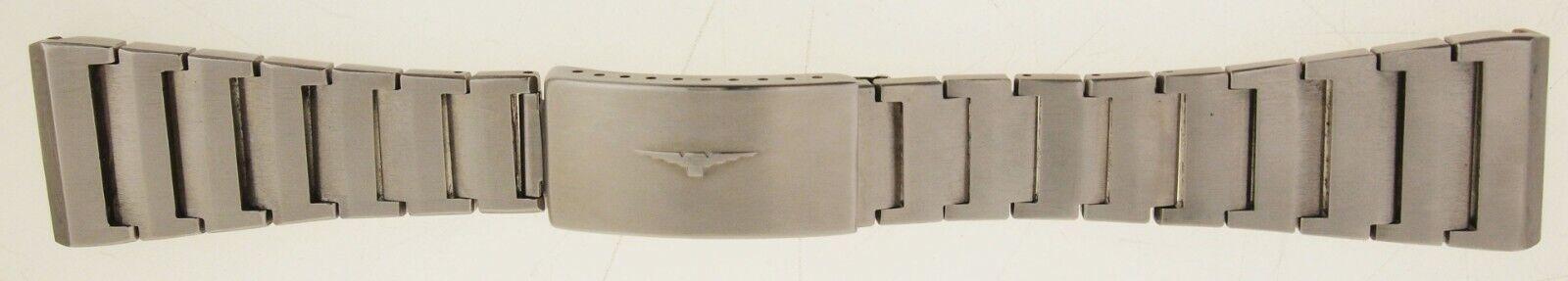 LONGINES EDELSTAHL ARMBAND - BANDANSTOSS 24 mm - MIT FALTSCHLIESSE - CHRONOGRAPH