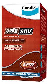 DB1675-4WD Bendix Rear Brake Pad FIT Ford Territory Turbo 4D Wagon/2WD 06-on