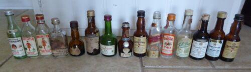 Lot Of 15 Vtg Liquor  Mini Bottles united, capitol airlines,johnnie walker, ++++