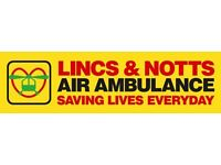 Lincs & Notts Air Ambulance Charity Shop Volunteer: Sutton in Ashfield - SATURDAY AM &/or PM