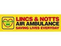 Lincs & Notts Air Ambulance - Charity Shop Volunteer, Retford (Various vacancies available)