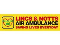 Lincs & Notts Air Ambulance Charity Shop Volunteer: Retford - TUESDAY PM