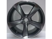 """1x Brand NEW 18"""" 19"""" AUDI RS3 Rotor Alloy WHEELS SINGLE WHEELS £150 grey black A4 A5 A6 RS4 S3 S4 s5"""