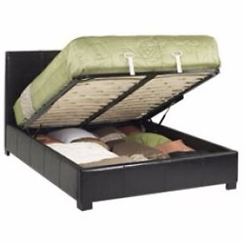Free Delivery Metal Structure Double Leather Storage Bed Frame Only £129 With soft PU leather cover