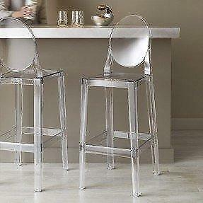 Brand New Clear Ghost Counter Stools | HCD Toronto