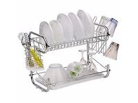 Chrome Dish Drainer Drain Secaplato 2 Floors C Tray new boxed