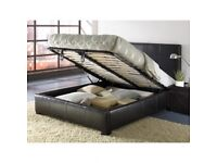 EXCLUSIVE OFFER--DOUBLE LEATHER BED WITH STORAGE WITH 100% ORTHOPEDIC MATTRESS-SAME DAY-single/king