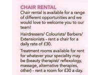 Chair for rent Hair/beauty salon