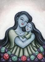 Mother and Daughter Create Together