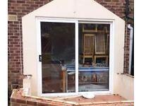 Sliding patio doors in white UPVC 260cm wide x 240cm high
