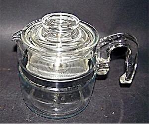 Rare Vintage Pyrex Flameware 4 cup Coffee Percolator