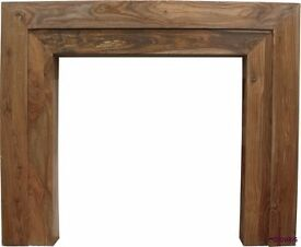 The Vermont Fire Surround as new acacia wood *reduced* paid £364 will sell £175