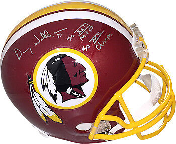 (Doug Williams signed Redskins Riddell Mini Helmet dual SB XXII MVP & SB Champs)