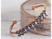 Elizabeth Cole Adelia Cuff with Swarovski Crystals Bracelet RRP $167.50 - £130