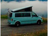 Stone Blue VW T5 campervan, Bilbo's Komba 2015, 4 berth, 5 seat, lots extras, 27000 mileage