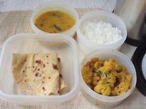 Home made fresh Indian vegetarian food (Lunch) packed in Tiffin Southbank Melbourne City Preview