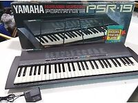Selling Yamaha PS3-19 Keyboard (includes stand and power adaptor)