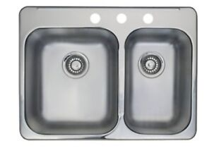 50% off Sale! New Kindred RCL2027R/3CT Double Kitchen Sink $150