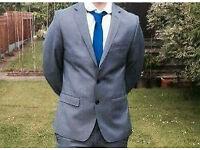 Grey prom suit