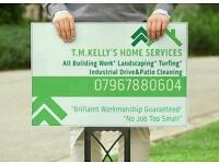 Garden Services, Paving, Turfing, Fencing, Driveway Cleaning, Rubbish & Waste Removal, Maintenance.