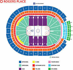 OILERS Tickets Section 217 - Row 12
