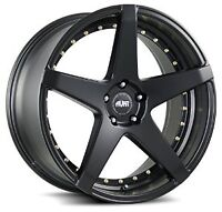NEW! Black w/GOLD!! 20 inch rims/tires - STAGGERED AVAILABLE
