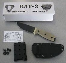 Ontario Rat 3 knife, Made in USA, new in box! Baulkham Hills The Hills District Preview