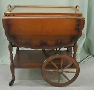 Tea Wagon with removable glass serving tray - Gibbard