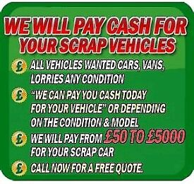 ALL CARS, VANS,4X4 AND TRUCKS WANTED