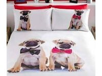Pug Duvet Sets (Available in Single, Double & King size)