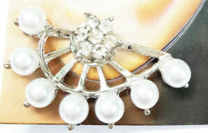 New-Latest-Indian-Bollywood-Designer-Silver-Pearl-Earrings-2-Pc-Gift-Set