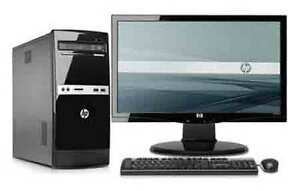 HP desk top with LCD monitor, mouse and keyboard included