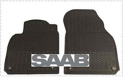 NEW! Genuine Saab 32026015 9-3 2008-2011 Black Rubber Floor Mat Set Now 20% off